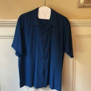 Men's Tommy Bahama silk short sleeved shirt XL